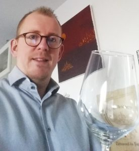 The tester of the wine glass Daniel Vouillamoz