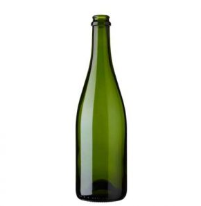 Champagne bottle crown 75 cl green heavy ECO