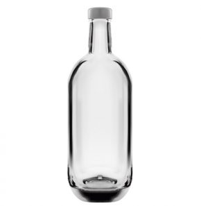 Gin bottle 75 cl white Moonea