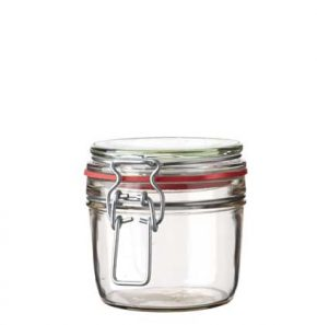 Swing top Honey Jar 400 ml white and red seal