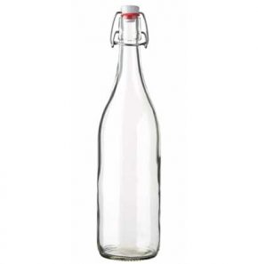 Swing top Juice bottle 100 cl white