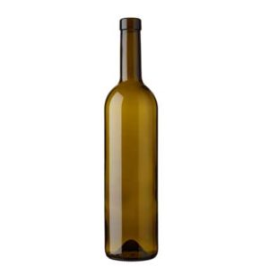 Bordeaux wine bottle bartop 75 cl olive green Harmonie