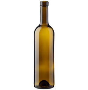 Bordeaux wine bottle bartop 70cl oak Prestige