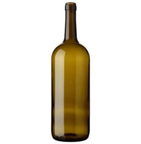Bordeaux wine bottle cetie 150 cl olive green Magnum
