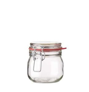 Swing top Jar 634 ml white and red seal