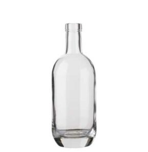 Vodka bottle bartop 50cl white Moonea
